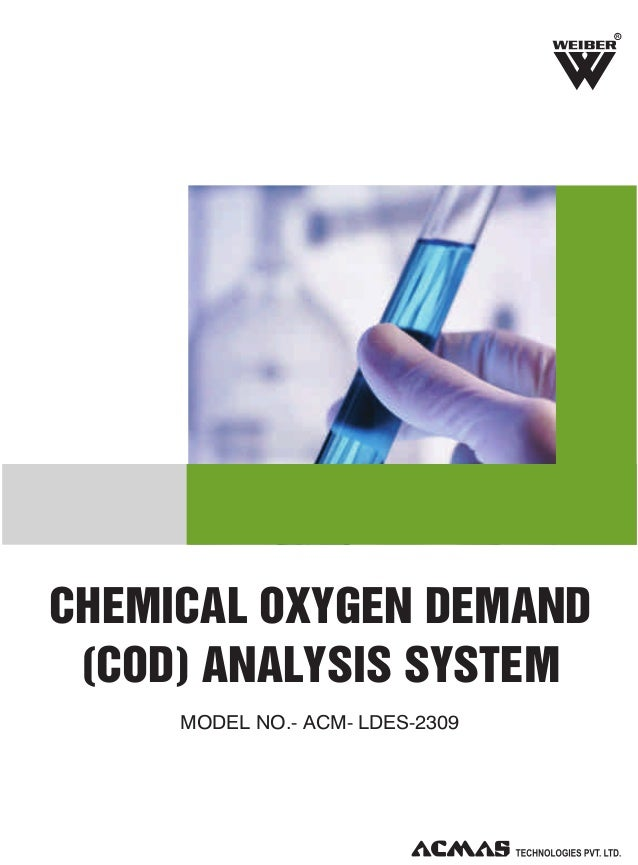 chemical oxygen demand Chemical oxygen demand, in environmental chemistry, the chemical oxygen demand cod is an indicative measure of the amount of oxygen that can be consumed by reactions in.