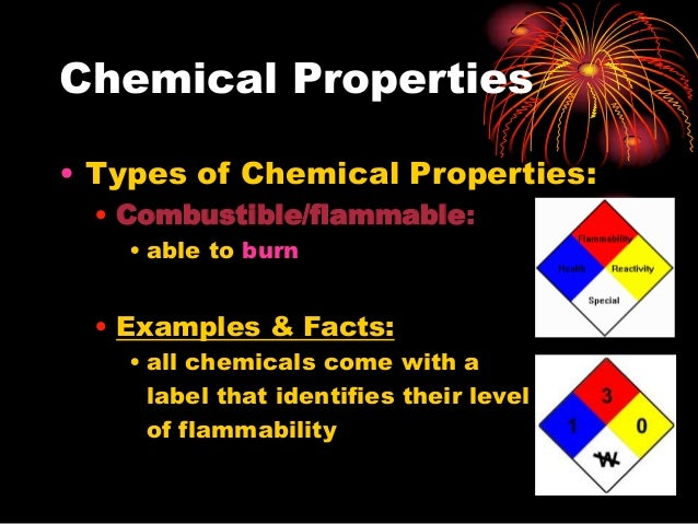 Facts About Chemical Properties Of Matter
