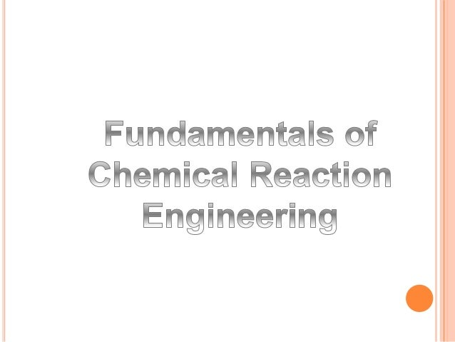 Chemical Reaction Engineering is the study of the rate at which reaction takes place and effect the parameters such as Tem...
