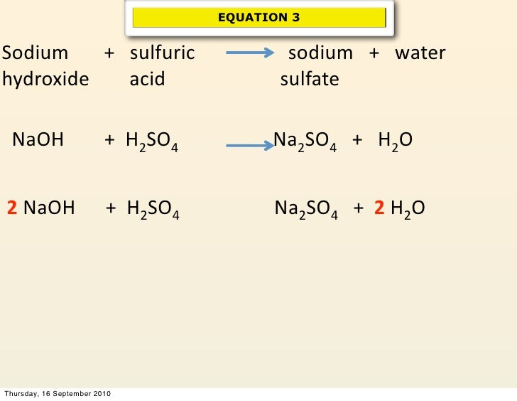 chemical reactions sodium hydroxide On the basis of mass produced, both chlorine and sodium hydroxide are in the  top  these two chemicals are discussed together here because industrially they  are  furthermore, the hydroxide ions formed at the cathode can react with any.