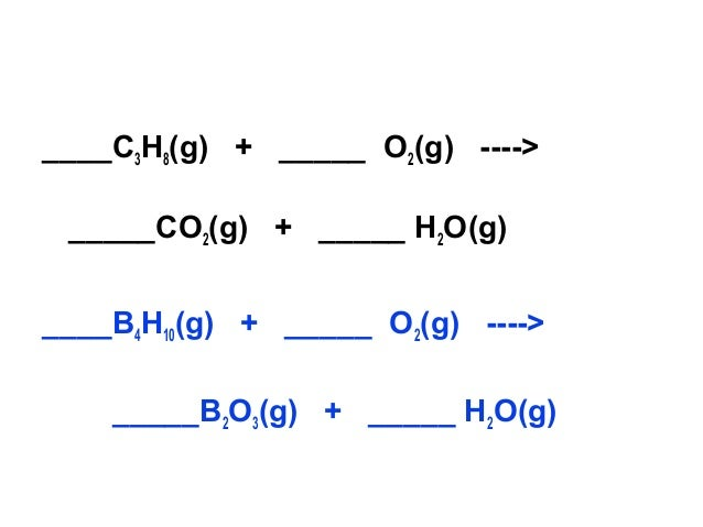 Chemical reactions and balancing equations
