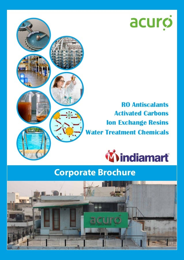 Water Treatment Chemicals RO Antiscalants Ion Exchange Resins Activated Carbons Corporate Brochure