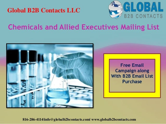 Chemicals and allied executives mailing list