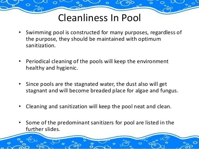 Chemicals for clean and hygienic swimming pool Slide 2