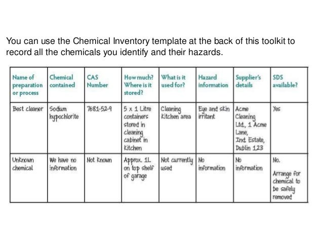 chemical risk assessment template - chemicals safety presentation