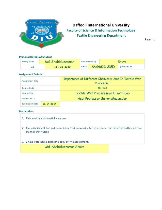 Page   1 Personal Details of Student Family Name Md. Shahiduzzaman Given Name (s) Shuvo ID 111-23-2350 Email Shahid23-2350...