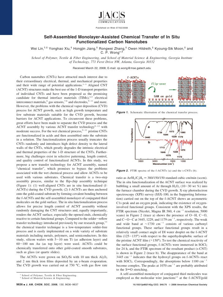 Published on Web 07/02/2008                            Self-Assembled Monolayer-Assisted Chemical Transfer of In Situ     ...
