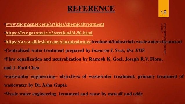 Chemical treatment methods