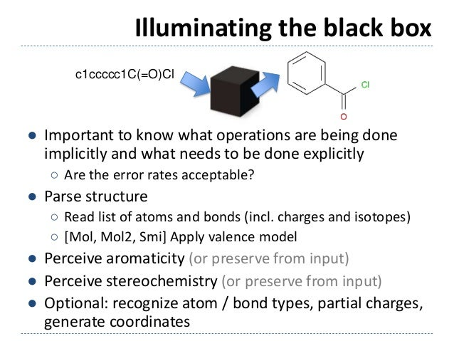 Illuminating the black box ● Important to know what operations are being done implicitly and what needs to be done explici...