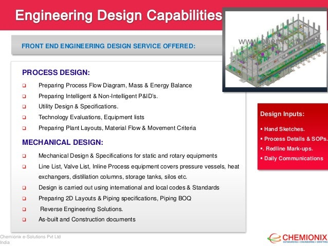 Chemionix engineering design cad drafting outsourcing for Engineering design firm