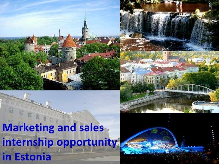 Marketing and sales internship opportunity in Estonia