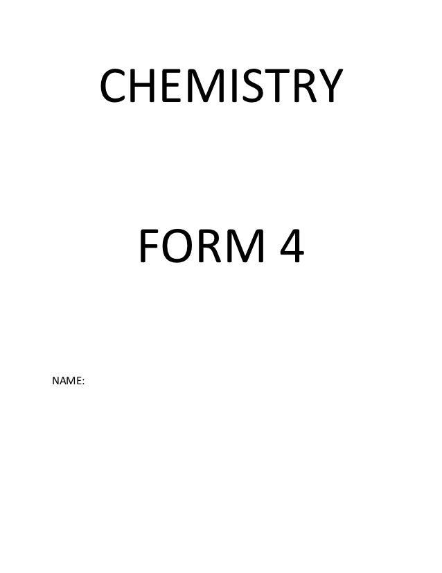 CHEMISTRY         FORM 4NAME: