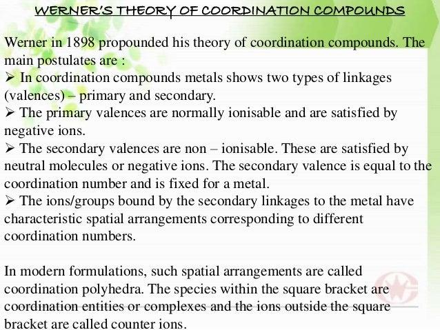 Coordination Chemistry Pdf
