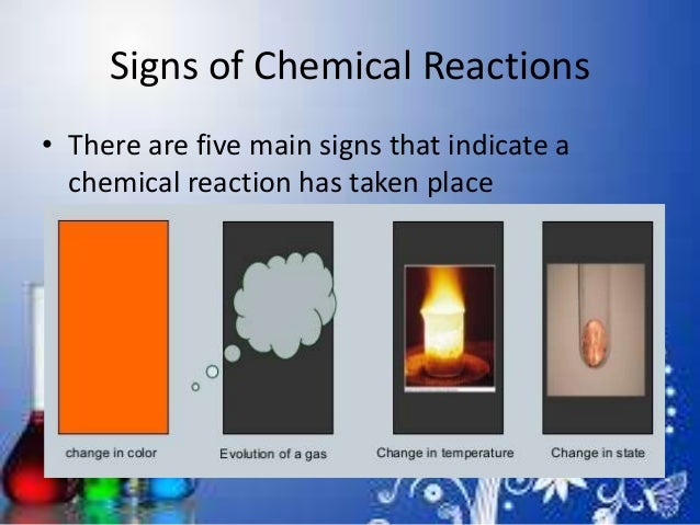 what indicates a chemical change