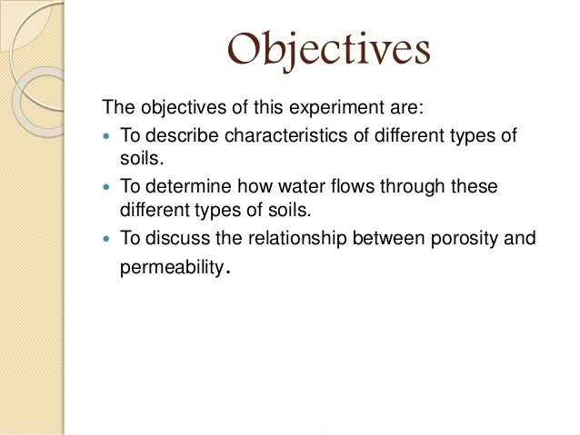 relationship between soil porosity and permeability lab