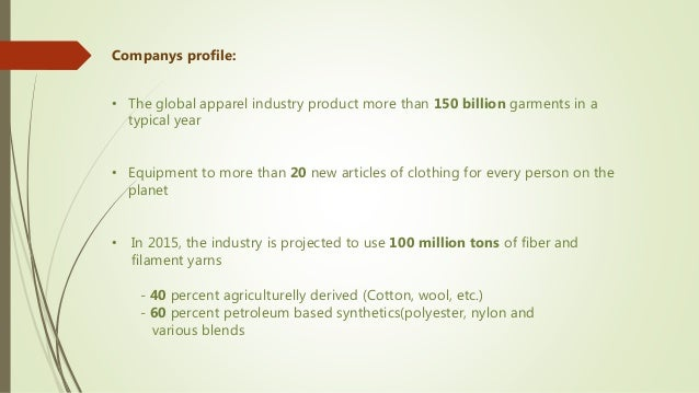 Textile industries(Top five Textile companies in the World)