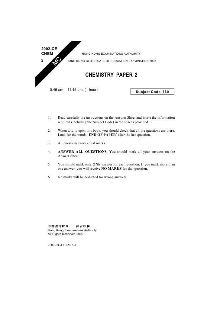 2002-CE CHEM                      HONG KONG EXAMINATIONS AUTHORITY  2               HONG KONG CERTIFICATE OF EDUCATION EXA...