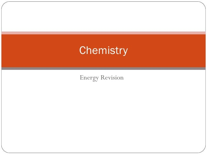 Energy Revision Chemistry