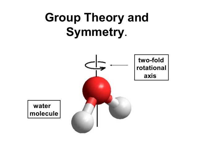 Group Theory and       Symmetry.                   two-fold                  rotational                     axis watermole...