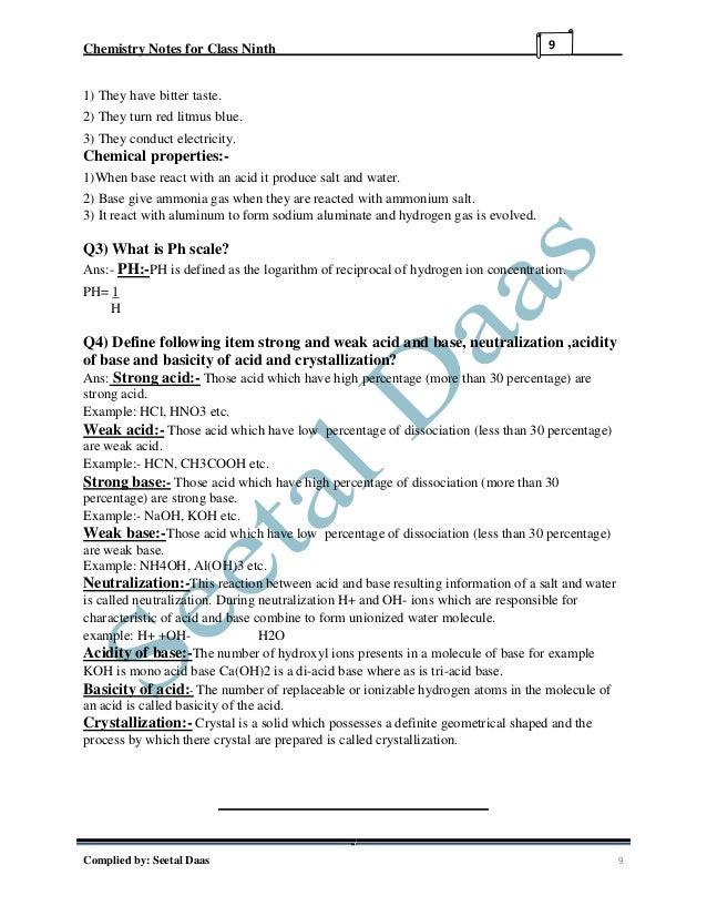 Chem 208 notes | Homework Example - einsteinisdead com