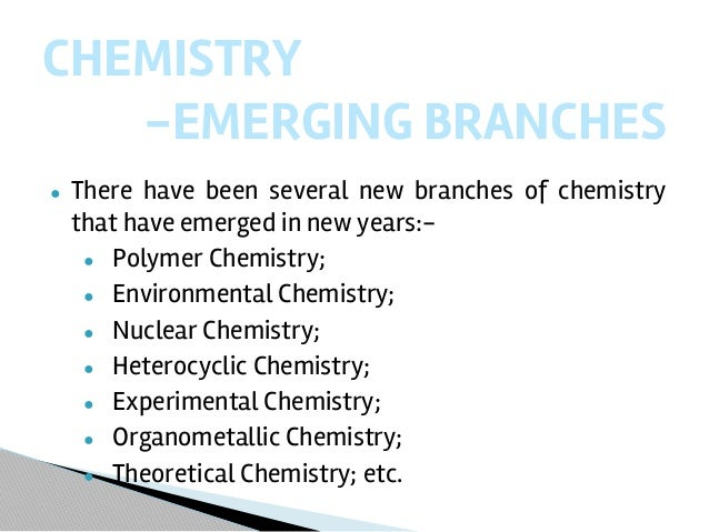 chemistry assignment help chemistry 5 major branches 7