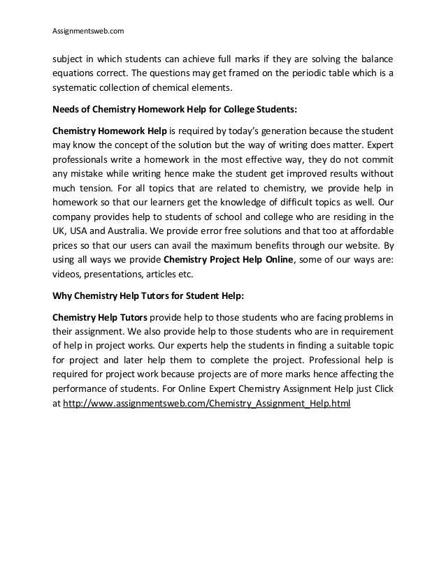 Organic chemistry homework assignment help dissertation proposal abstract