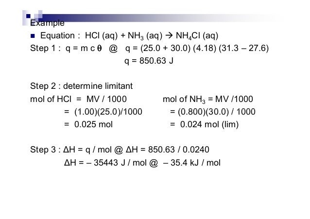 how to find mol in of hcl