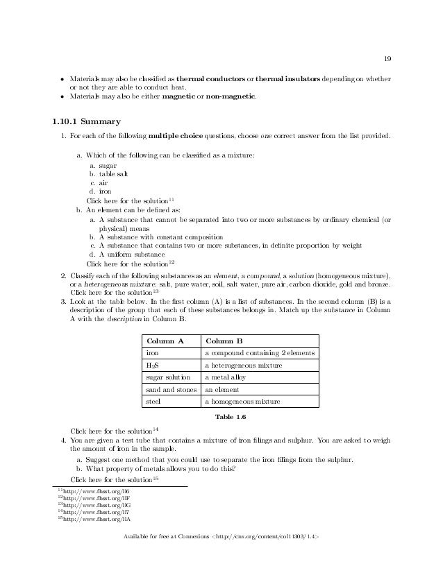 Chemistry worksheets grade 10