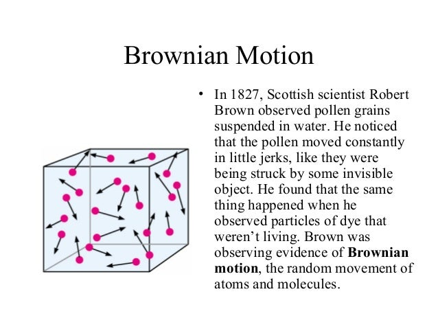 what causes the brownian motion of particles in a colloid