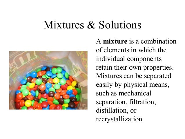 Image Result For Mixtures And Solutionsa