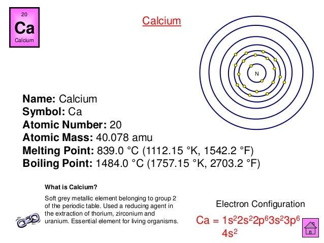 Chemistry is fun ipt 57 name calcium symbol ca atomic number urtaz Images