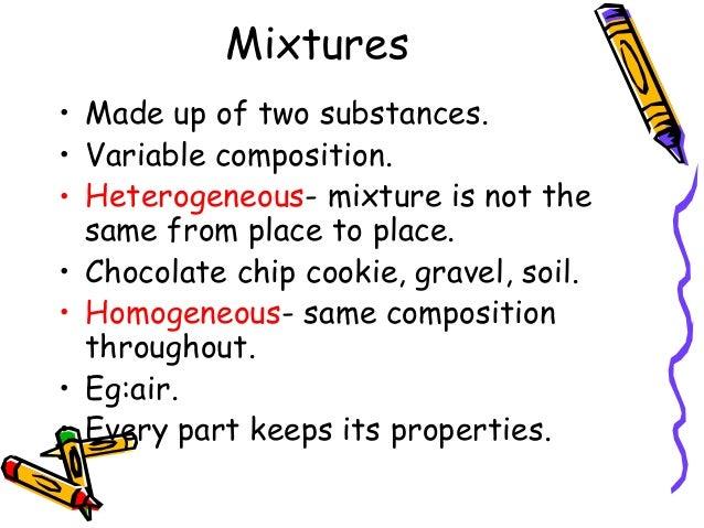 Chemistry matter and change for Soil homogeneous or heterogeneous