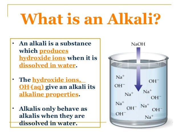 What is alkali and alkaline