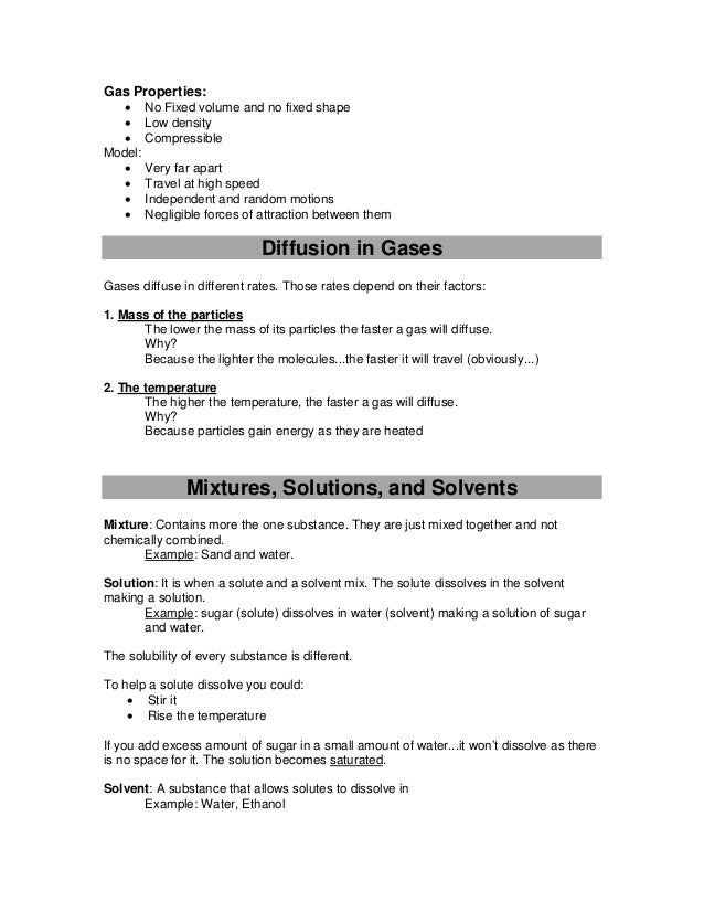 Chemistry Revision Notes IGCSE – Density Worksheet Chemistry