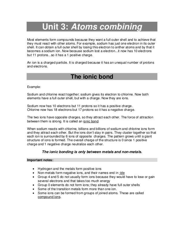 igcse coordinated science notes pdf