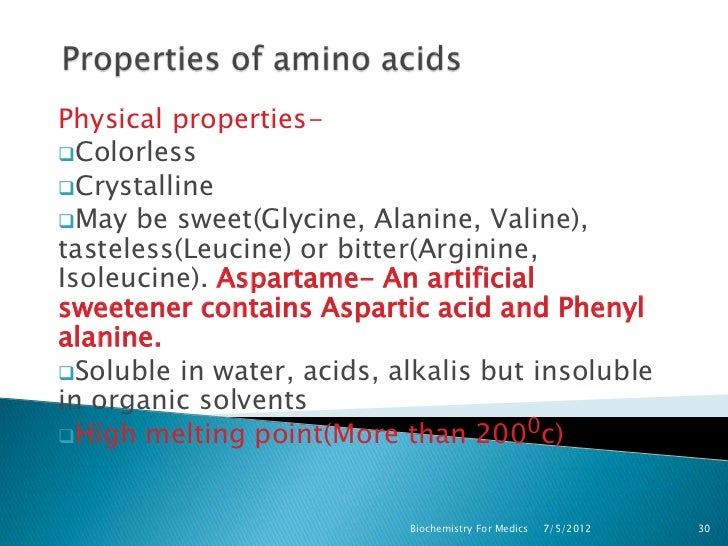 Amino Acids With Similar Physical Properties