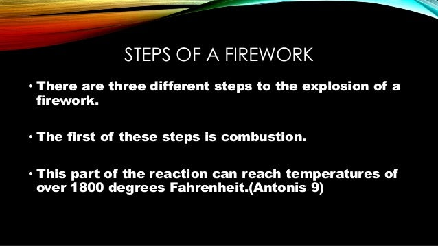 firework chemistry What chemistry and physics happens in the atoms the chemical burning reactions in the gunpowder in the fireworks vaporize the gunpowder and the color producing chemicals mixed in with the gunpowder.