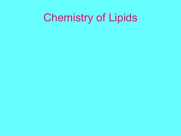 the chemistry of lipid