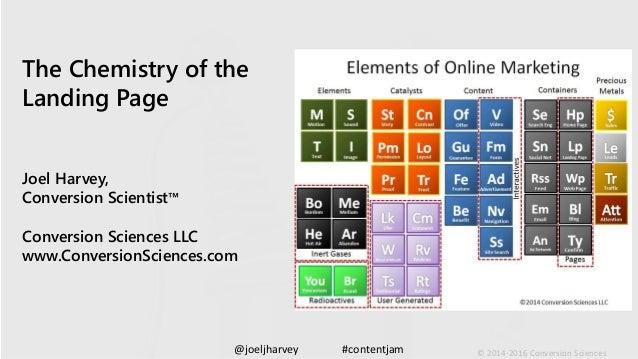 @joeljharvey #contentjam © 2014-2016 Conversion Sciences The Chemistry of the Landing Page Joel Harvey, Conversion Scienti...
