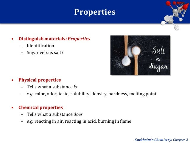 What Tells The Chemical Properties Of Sugar