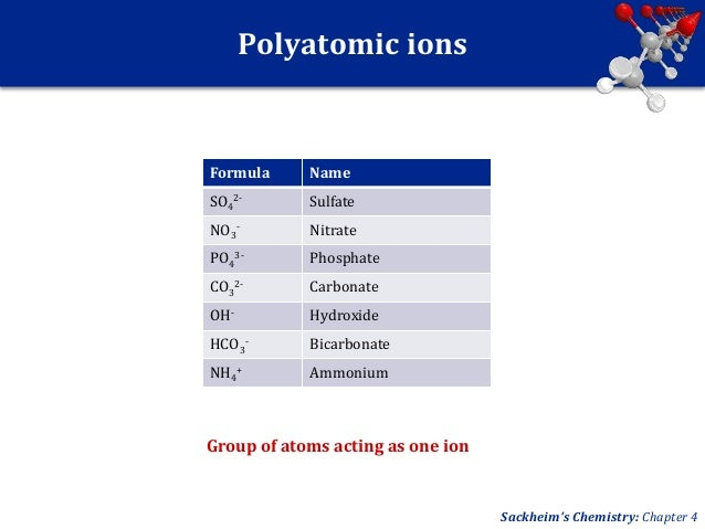 Po4 Charge: ChemPhys UNIT 4: Chemical Bonding