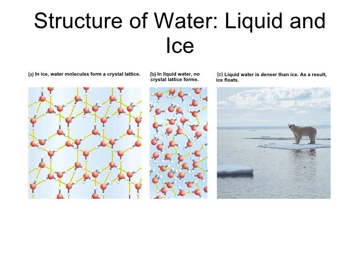 Properties of water presentation.