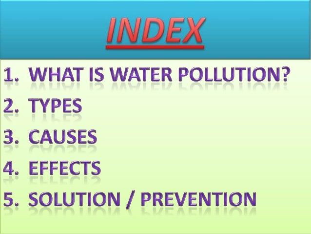 Project Report on Water Pollution