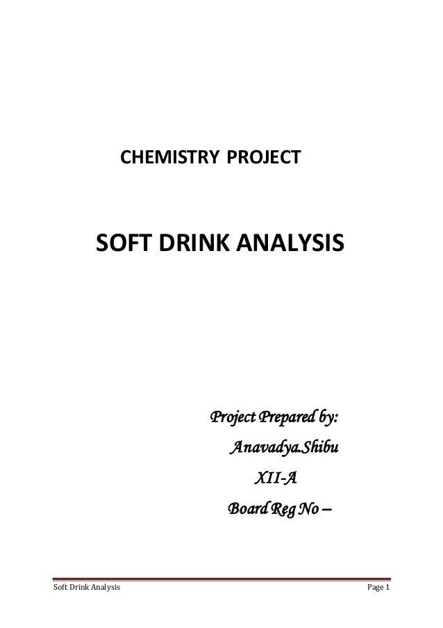Soft Drink Analysis