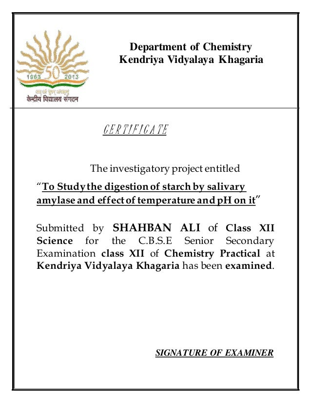 chemistry project 12th What are some projects for class 12 boards in physics, chemistry and computer science  what should be the matter for a chemistry project file with the topic rusting for 12th standard what are some of the best chemistry investigatory projects for class 12th.