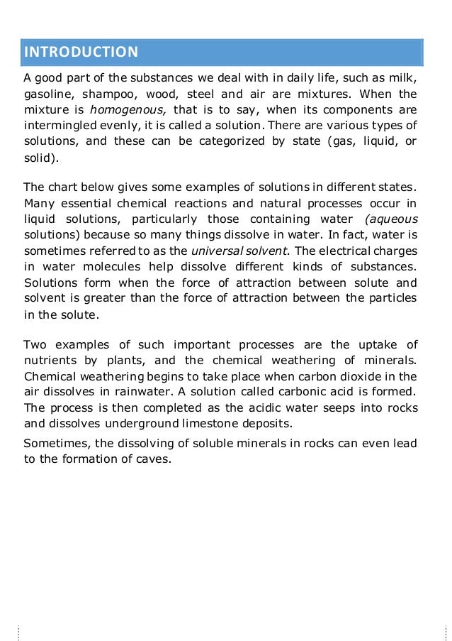 What are types of solutions in chemistry?