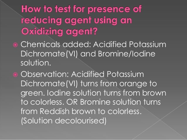 Forthe following QNs, what are the reducing agents and oxidizing agents and what has been oxidized or reduced?