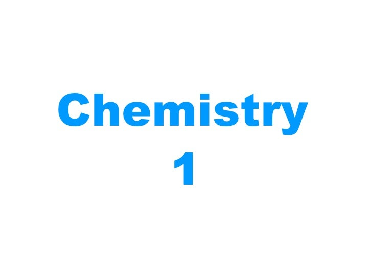 Chemistry revision