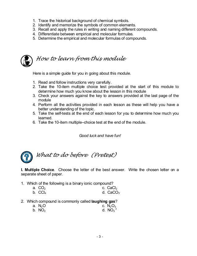 Chem m12 chemical nomenclature
