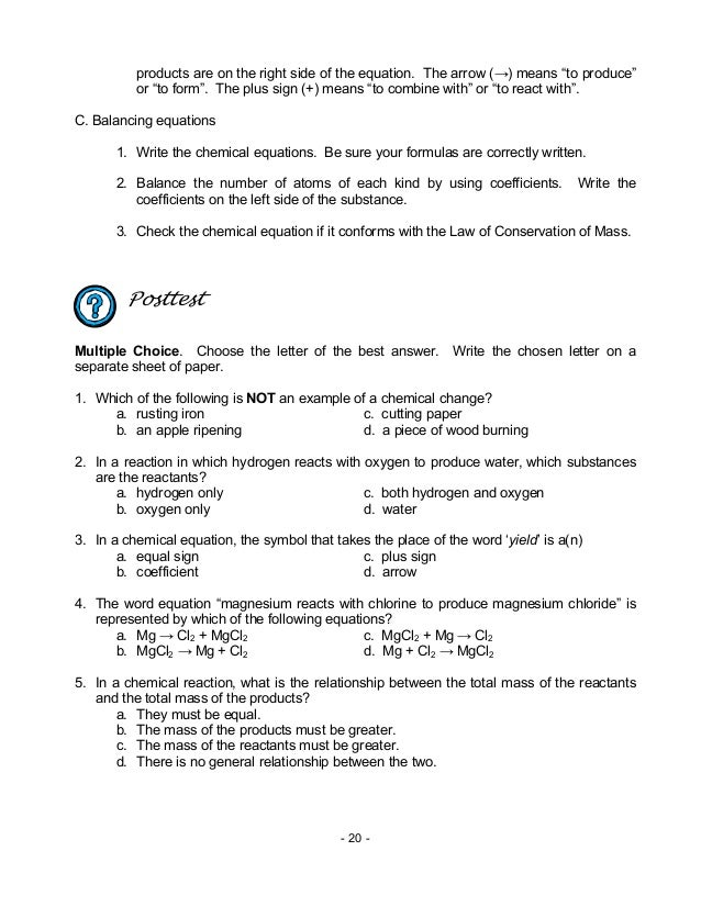 Chem M13 Chemical Reactions